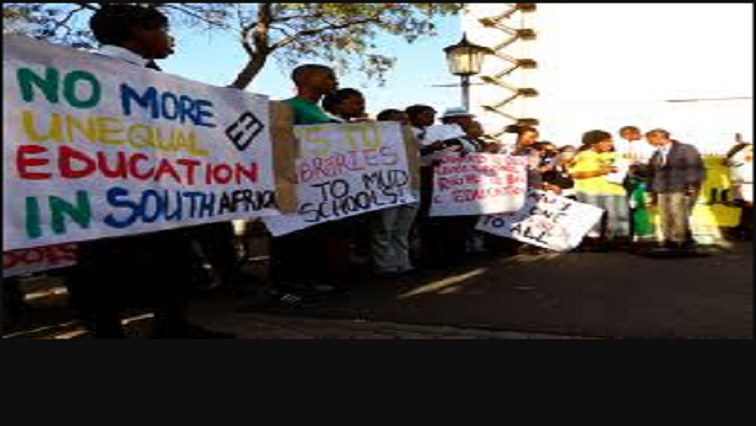 Protest demanding equal education