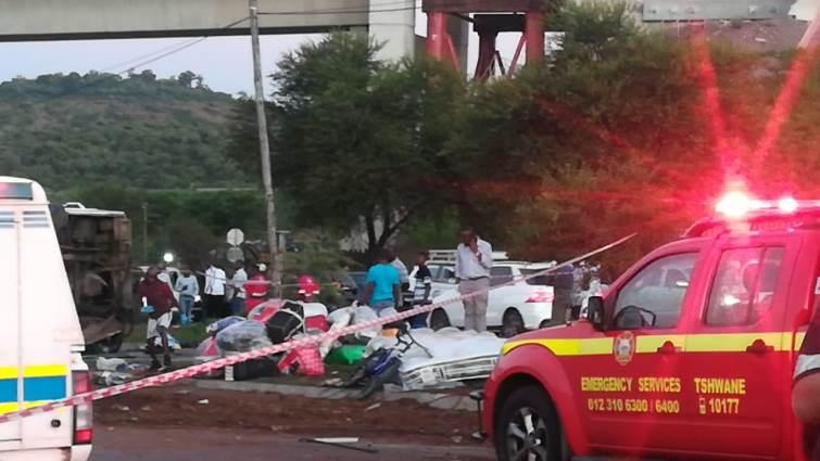 SABC News Crash Eufees Pretoria1 - A bus collision leaves more than two dozen people injured in Pretoria