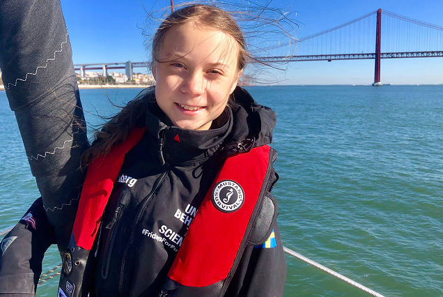 Climate activist Greta Thunberg reaches Lisbon on way to ...