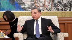 File photo of China's top diplomat Wang Yi speaking during a meeting with former Ethiopian President Mulatu Teshome in Beijing.