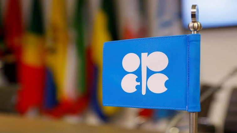 The logo of the Organization of the Petroleum Exporting Countries (OPEC)