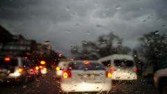 Heavy rains continued overnight across the province, reducing visibility on the roads.