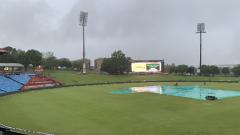 Rained stadium