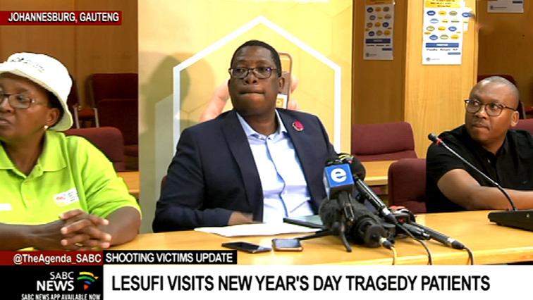 Panyaza Lesufi breifs media on Mellville attack.