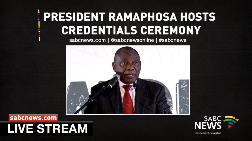 Ramaphosa LIVE 1024x577 - WATCH LIVE: President Ramaphosa hosts credentials ceremony