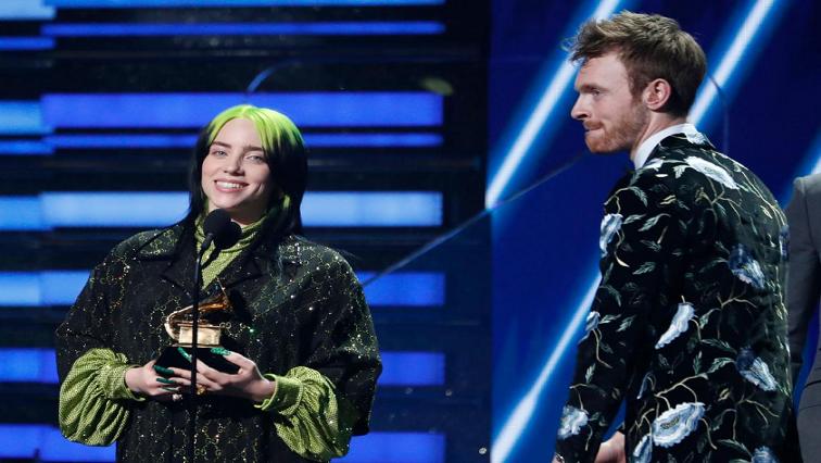 SABC News Billie Eilish Finneas OConnell R - Billie Eilish wins song of the year Grammy