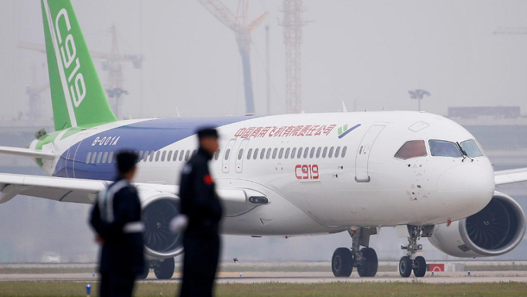 SABC News C919 passenger jet taxis Reuters - China's bid to challenge Boeing and Airbus falters