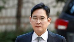 Samsung Electronics Vice Chairman, Jay Y. Lee, arrives at Seoul high court in Seoul.