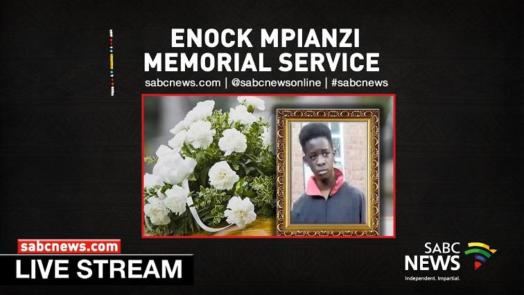 SABC News Mpianzi Memorial Service LIVESTREAM - WATCH: Enock Mpianzi Memorial Service