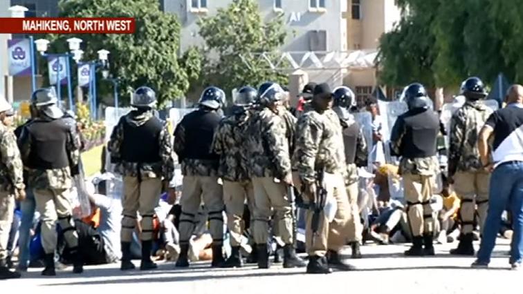 SABC News NWU Mahikeng SABC News - Tensions high at North West University
