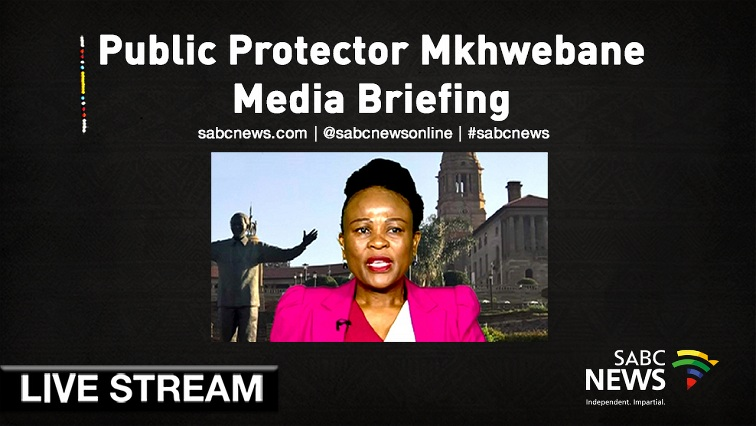 SABC News Public Protector Mkhwebane Live - WATCH: Public Protector releases reports