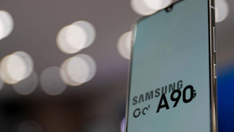 Samsung Electronic's Galaxy A90 is seen on display at a Samsung store in Seoul.