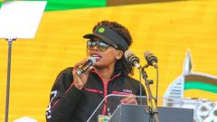 Cpsatu president, Cde Zingiswa Losi delivered the messages of support to ANC.