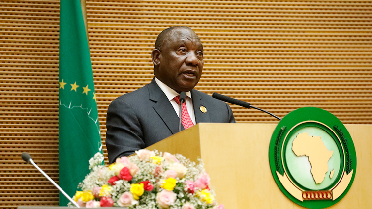 President Cyril Ramaphosa accepting the chairpersonship of the African Union for 2020.