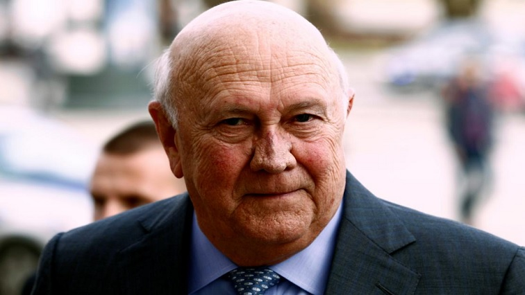 SABC News De Klerk.jpg Reuters - FW de Klerk's statement on apartheid sparks condemnation from all sectors