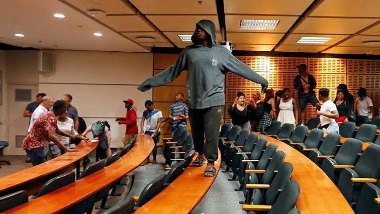 SABC News Lecture Reuters - UWC lectures disrupted as students demand scrapping of historical debt