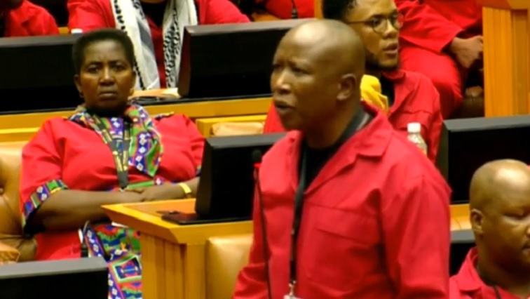 SABC News Malema - De Klerk an unexpected focus for EFF as SONA is brought to a halt