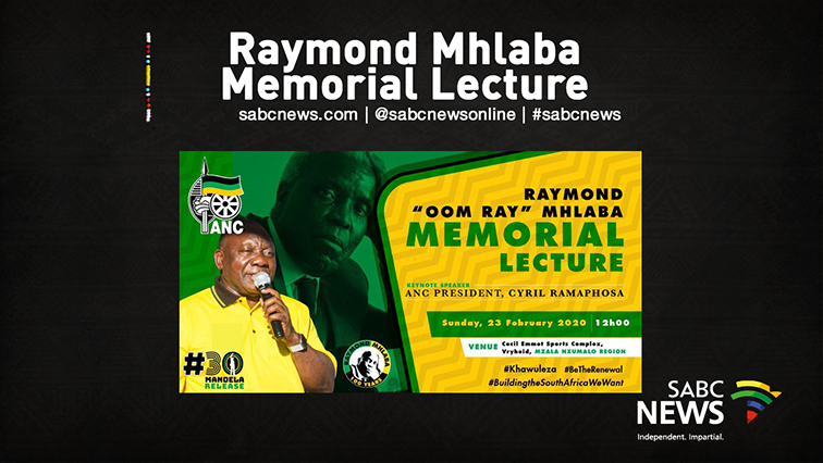 SABC News Oom Ray Lecture Live - WATCH: ANC President Cyril Ramaphosa delivers Raymond Mhlaba memorial lecture