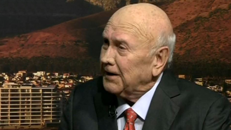 SABC News de Klerk - De Klerk Foundation's apology not sincere: EFF