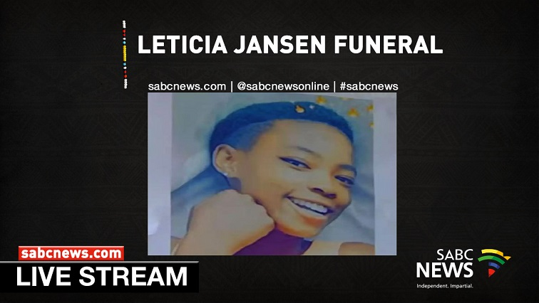 SABC News lETICIA - WATCH: Leticia Jansen's funeral service; 01 February 2020