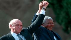 FW de Klerk and Nelson Mandela