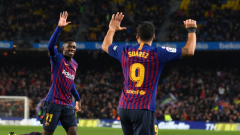 Ousmane Dembele and Luis Suarez