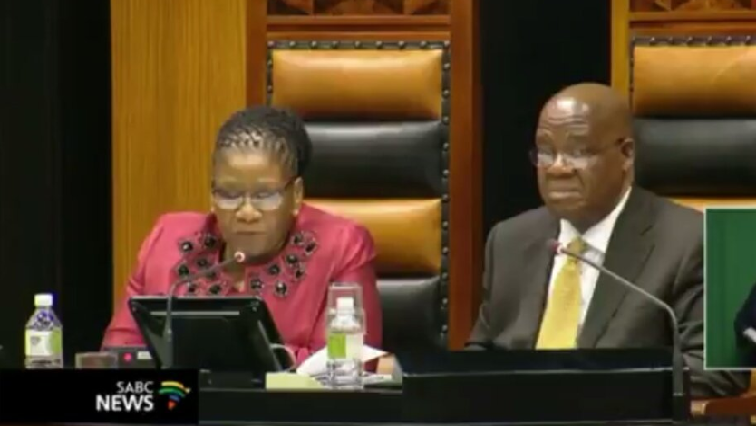 SABC News Thandi Modise 1 - Members of Parliament in favour for change in Parly rules on disruptions