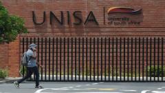 man passes by Unisa