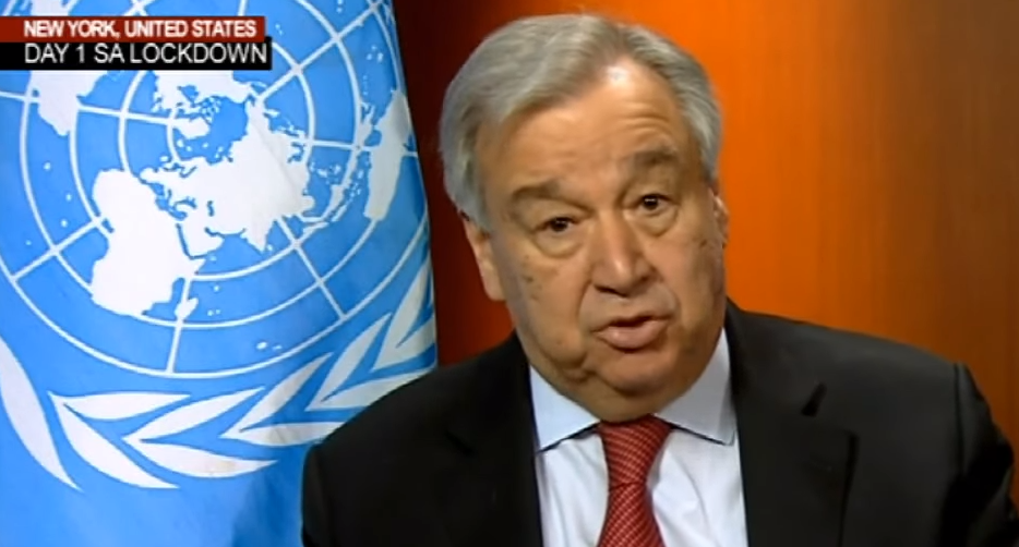 UN NEW 1 - UN Chief calls for prioritisation of Africa in response to COVID-19 pandemic