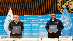 Thomas Bach and Dr Tedros Adhanom Ghebreyesus