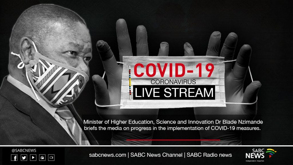 blade stream 9 june 1024x577 - LIVE STREAM: Higher Education briefing on progress in COVID-19 measures