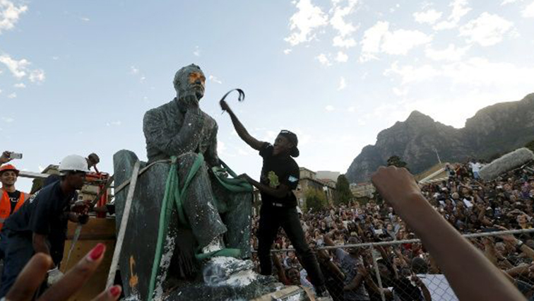 sabc news rhodes must fall R - #RhodesMustFall wants statues representing oppression, racism removed
