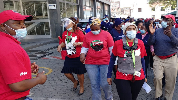 Nehawu Twitter@Sibusiso Khumalo - Cosatu urges all unions to rally behind nationwide health workers strike