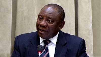 Ramaphosa P 1 1 1 1 - President Ramaphosa urges South Africans to take a firm stance against racism