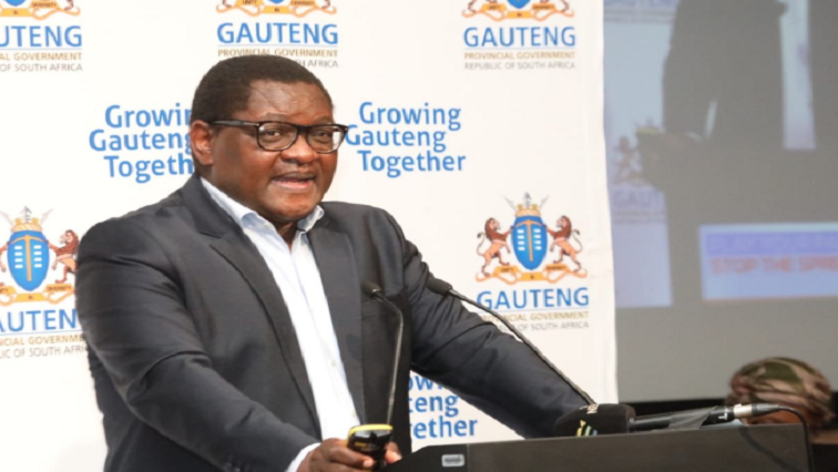 SABC News David Makhura @GautengGov - Makhura to publish list of companies contracted to provide services for COVID-19