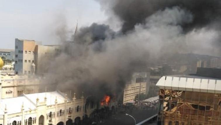 SABC News Mosque P - Durban mosque building tenants escape unharmed following fire