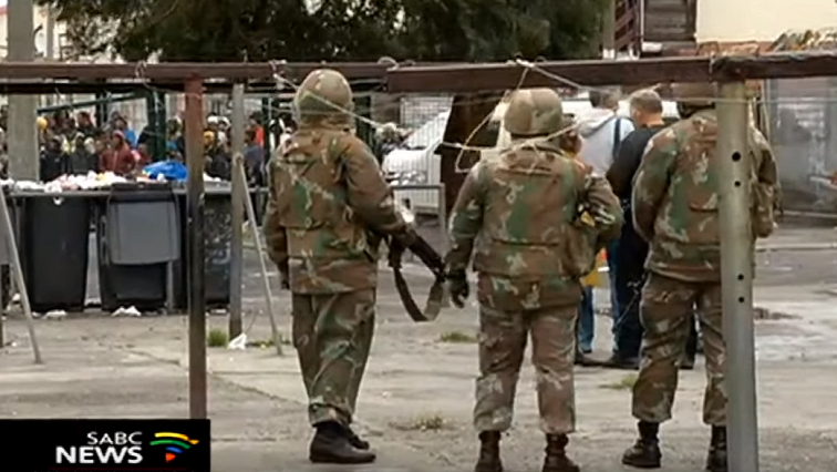 SABC News SANDF Cape Flats 1 - W Cape authorities welcome deployment of soldiers to enforce lockdown regulations