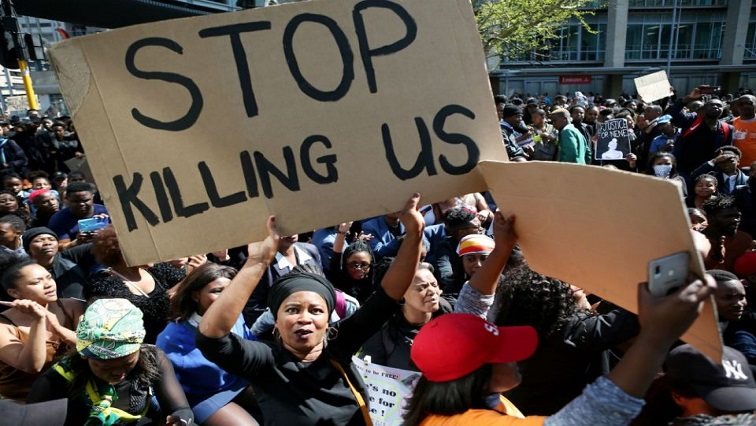 SABC News Gender Based Violence 4 - Protesting women in Cape Town ask government to act against GBV