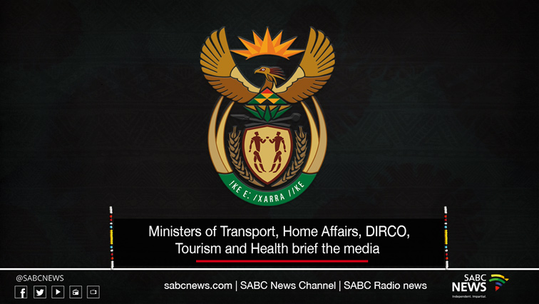DIRCO stream site - LIVE: COVID-19 lockdown level one update from various departments