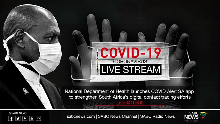 Mkhize live - LIVE: Health Department launches COVID Alert SA app