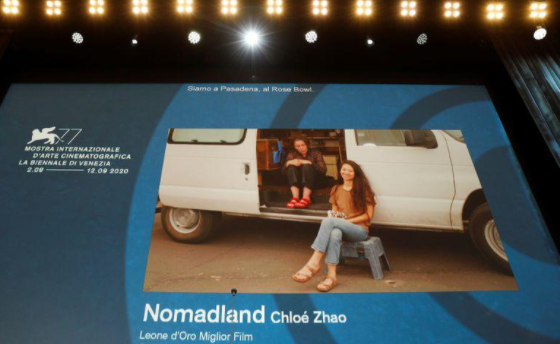 Nomadland - 'Nomadland' wins top prize at masked and distanced Venice film festival