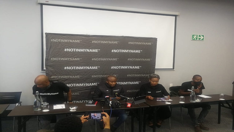 Not in My Name media briefing Twitter @NotInMyNameINT - Law enforcement officers must be trained to deal with GBV and femicide – #NotInMyNameInternational