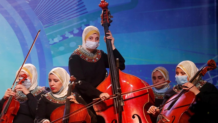 SABC NEWS EGYPT R - Egyptian orchestra for visually-impaired women resumes concerts amid coronavirus