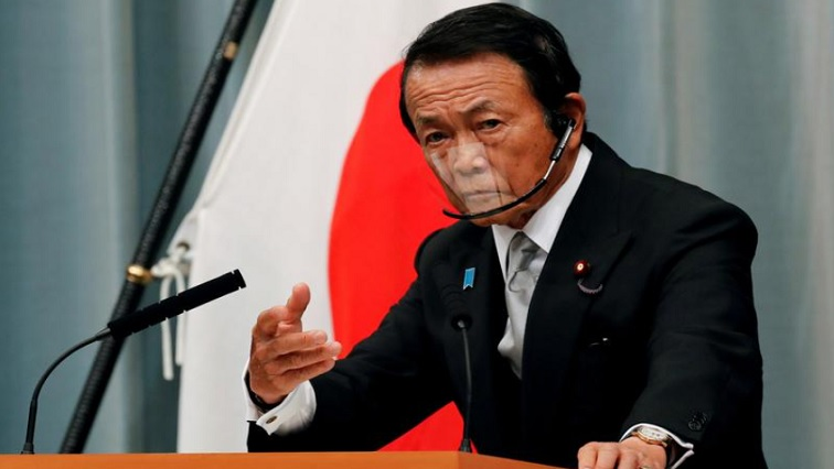 SABC NEWS Taro Aso R - G7 ministers back extension of debt freeze for poorest nations; urge reforms