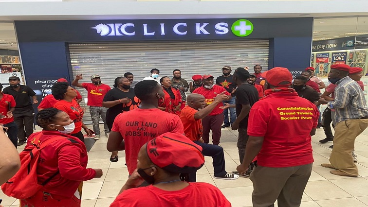 SABC News EFF Clicks Twitter @EFFSouthAfrica 1 - EFF calls off protest action at Clicks stores