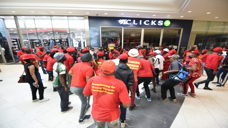 SABC News EFF Twitter via @EFFSouthAfrica - Five suspects arrested in connection with Clicks store vandalism