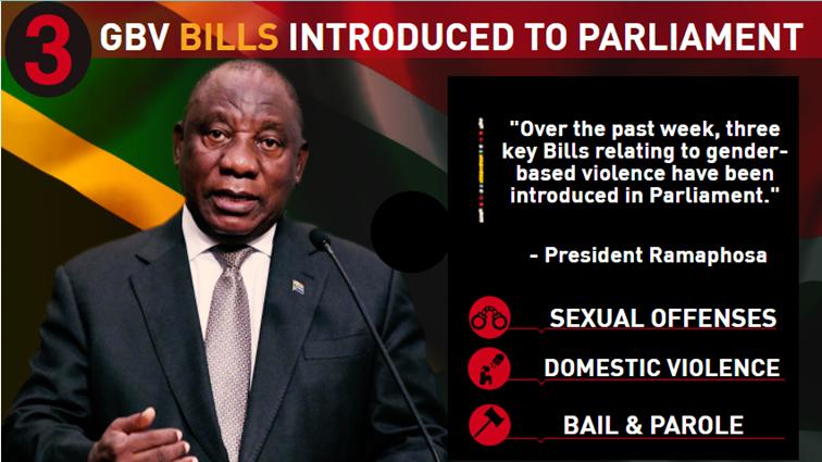 SABC News Three new bills - INFOGRAPHIC | GBV Bills introduced to SA Parliament