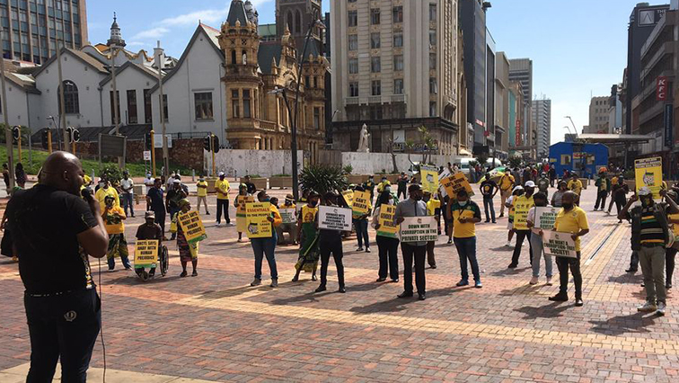 SABC News ANC - ANC Youth League members in Mpumalanga picket outside provincial offices