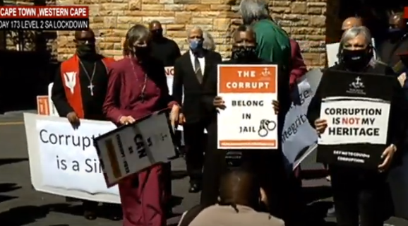 SACC - Church leaders in Cape Town protest against COVID-19 corruption