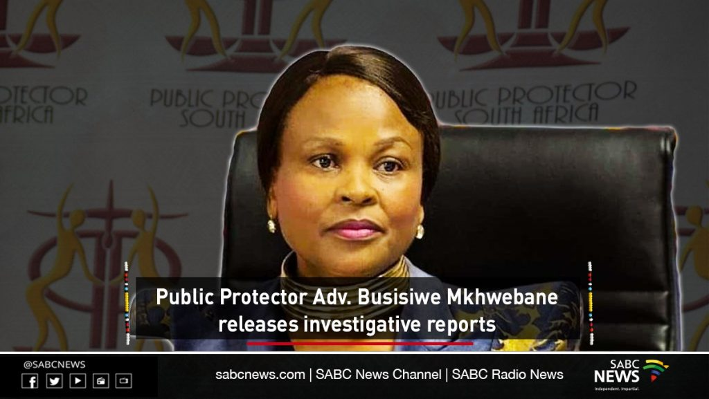 pp releases reports 1024x577 - LIVE | Public Protector releases investigation reports